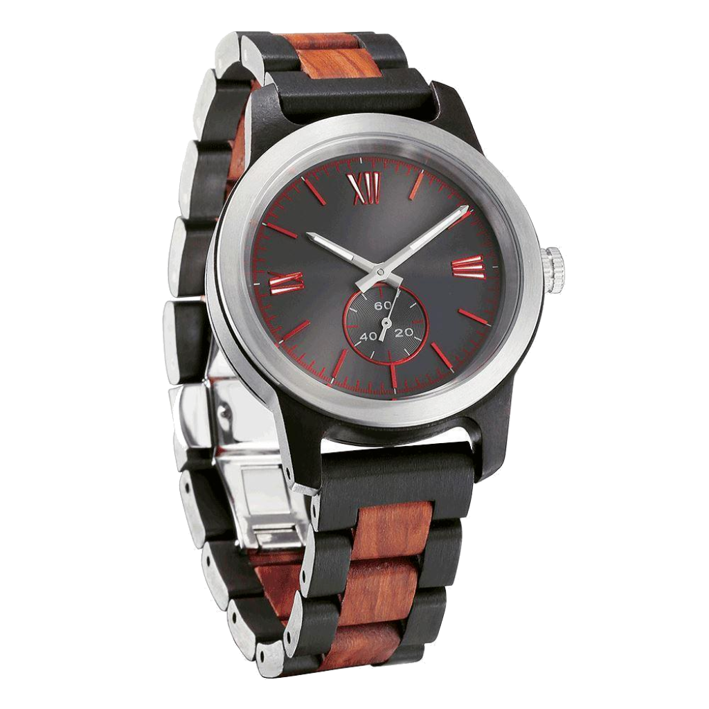 Men's Handcrafted Ebony / Rose Wood Watch