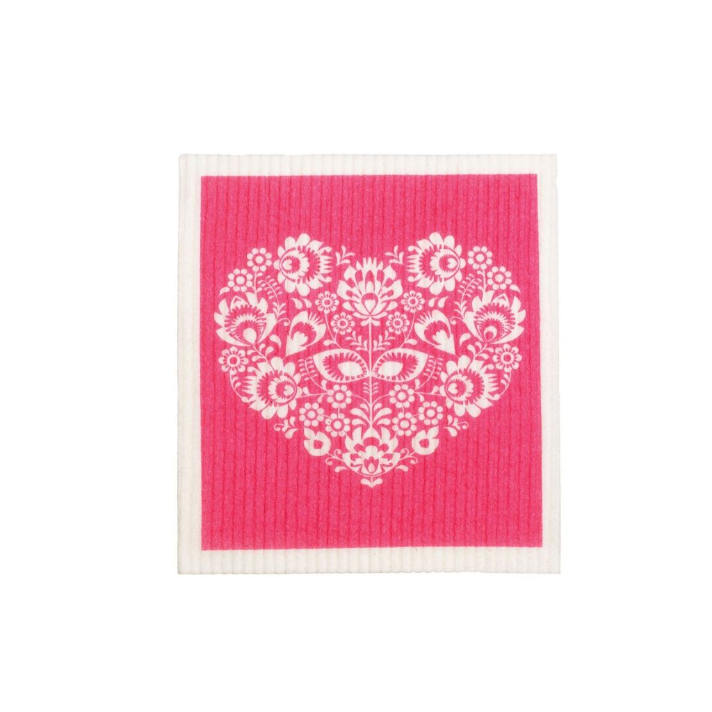 Sponge Cloths 100% Compostable - Heart
