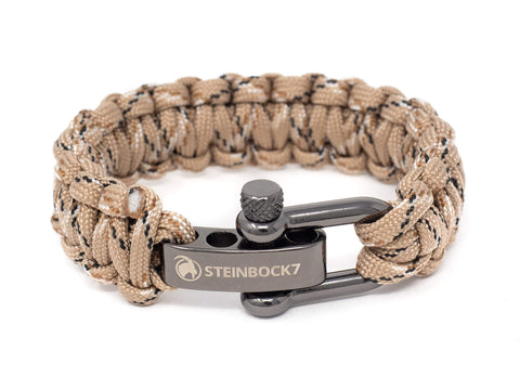 Steinbock7 Paracord Survival Armband, Camouflage