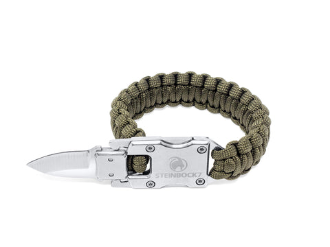 STEINBOCK7 Survival Paracord Männer Armband – Tactical Mini Messer
