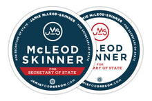 "Load image into Gallery viewer, JMS Campaign Sticker (3"" Round)"
