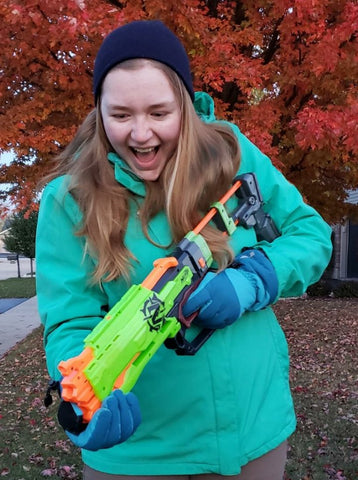 Nicole Haught with super soaker