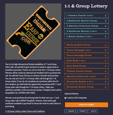 Lottery entry image