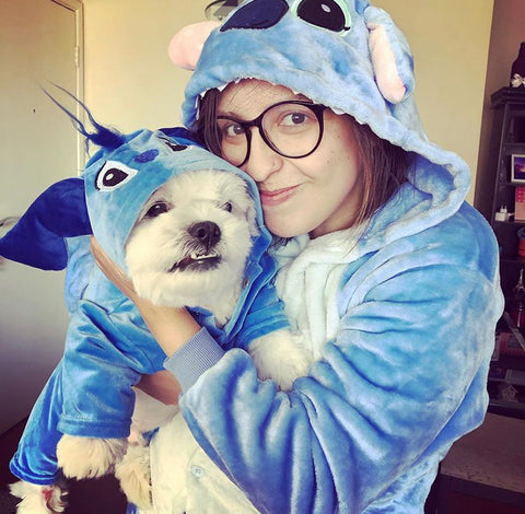 Natalia and Cookie as Stitch!