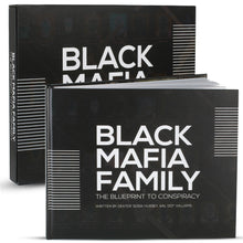 "Load image into Gallery viewer, Black Mafia Family ""The Blueprint to Conspiracy"" Collectors book written by Dexter ""Sosa"" Hussey 7 Kal ""007"" Williams."