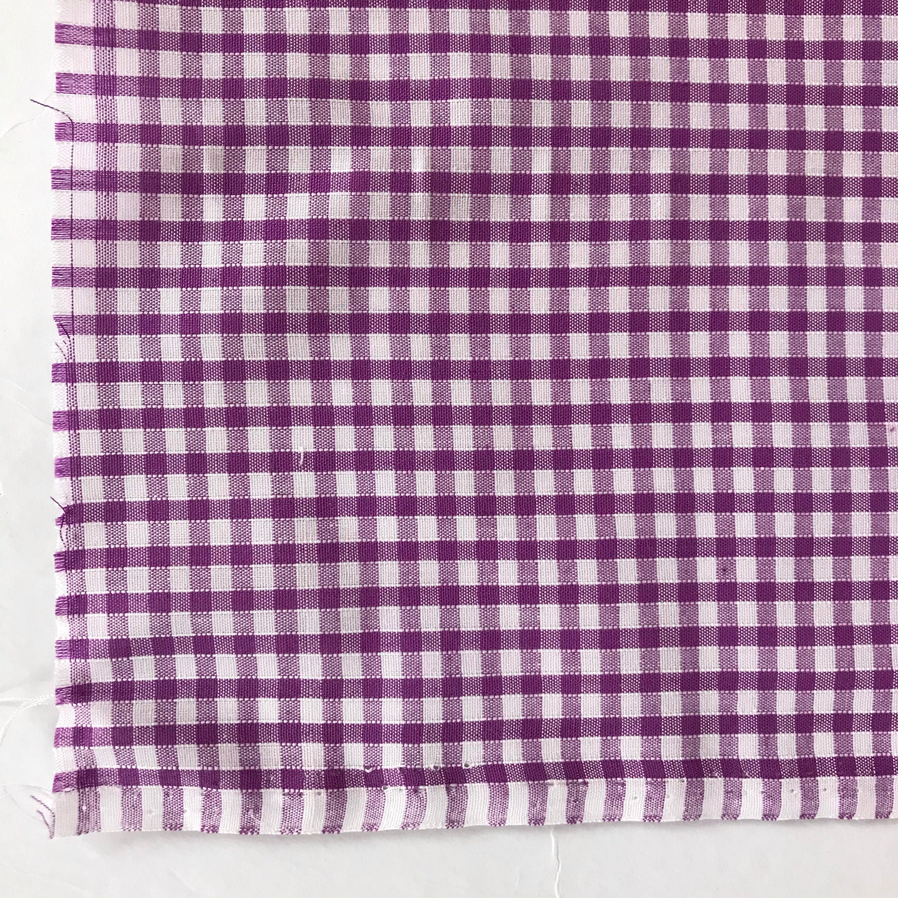 Polycotton 1/8 Gingham in Lilac