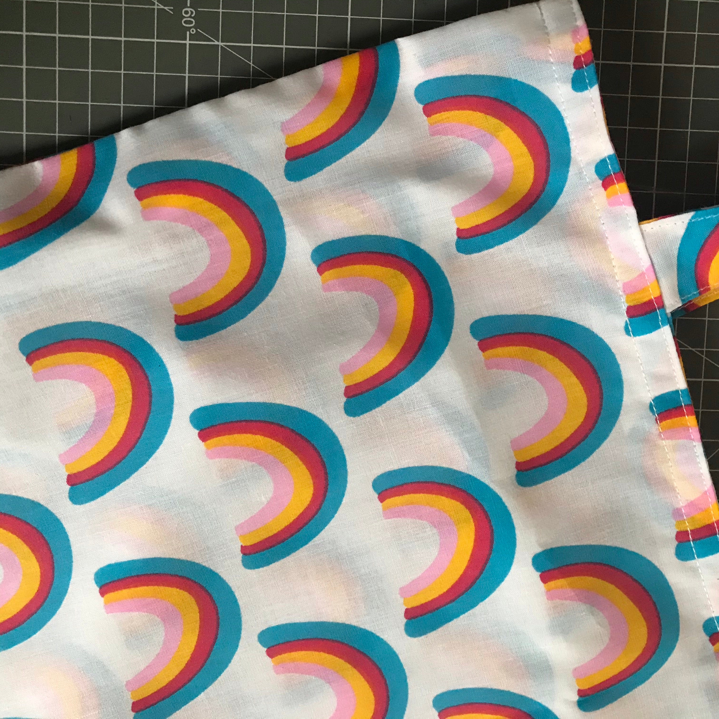 Polycotton Lined Rainbow Tote Bag