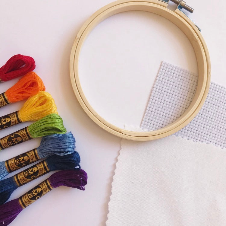 Rainbow Hand Embroidery Supply Kit