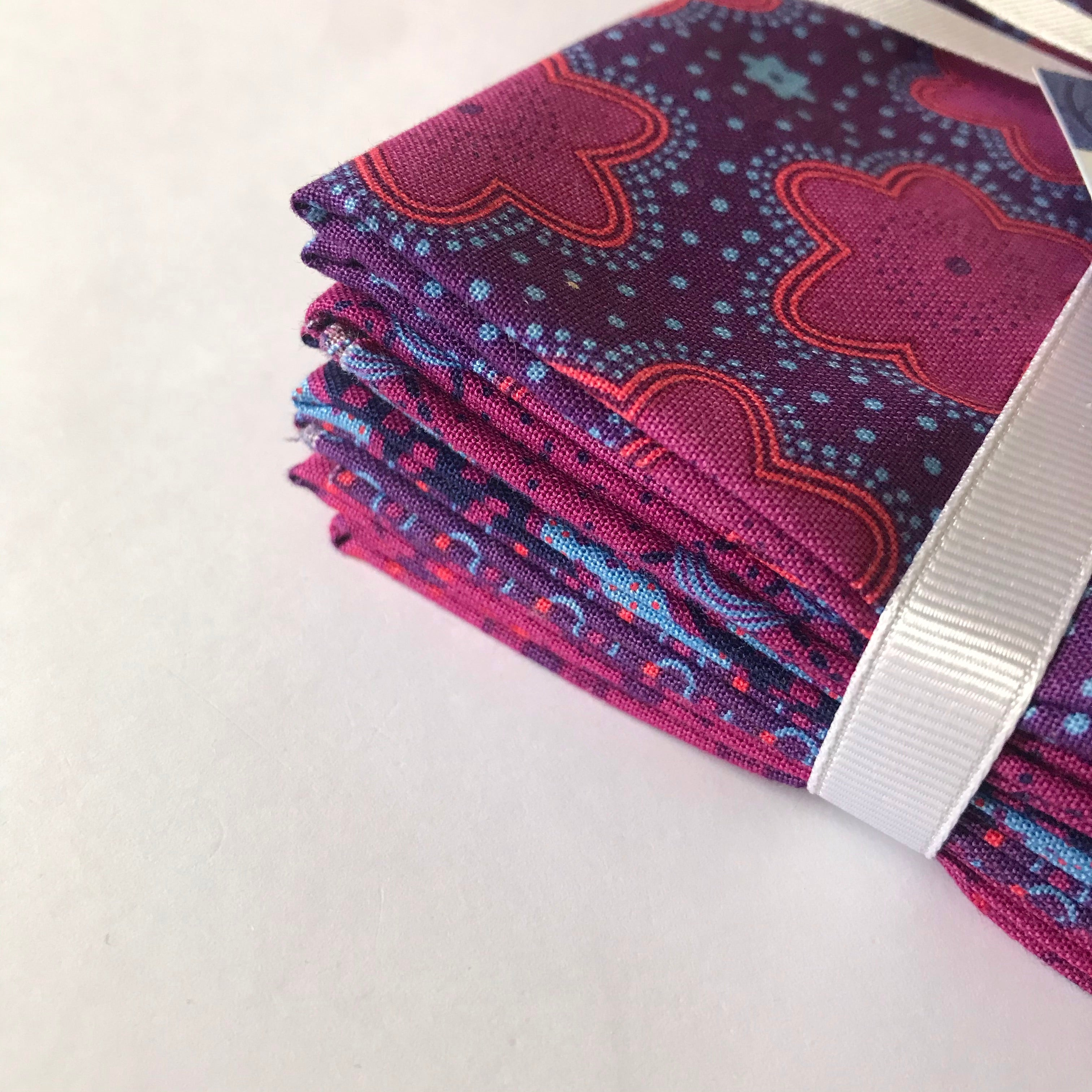 Purple Makoti Fat Quarter Bundle by The Craft Cotton Compant
