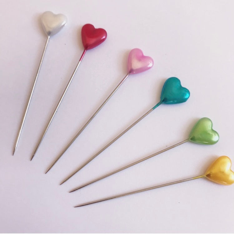 Colourful Set Of Love Heart Pins