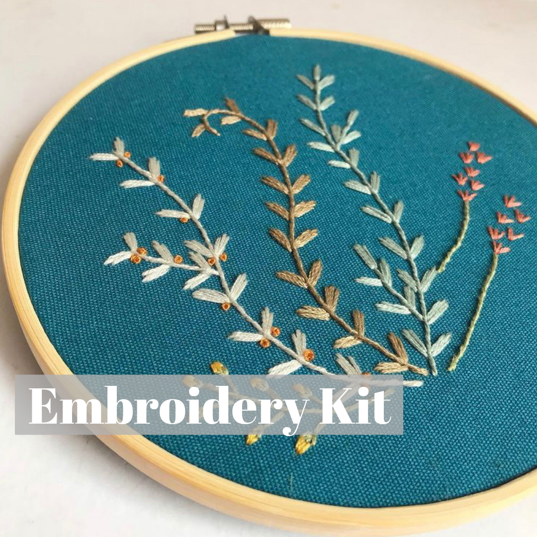 DIY 6 Inch Floral Embroidery Kit