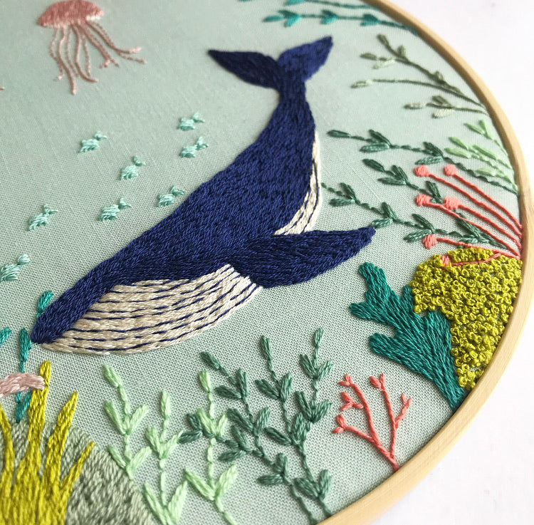 Under The Sea Embroidery Hoop Art (8 inches)