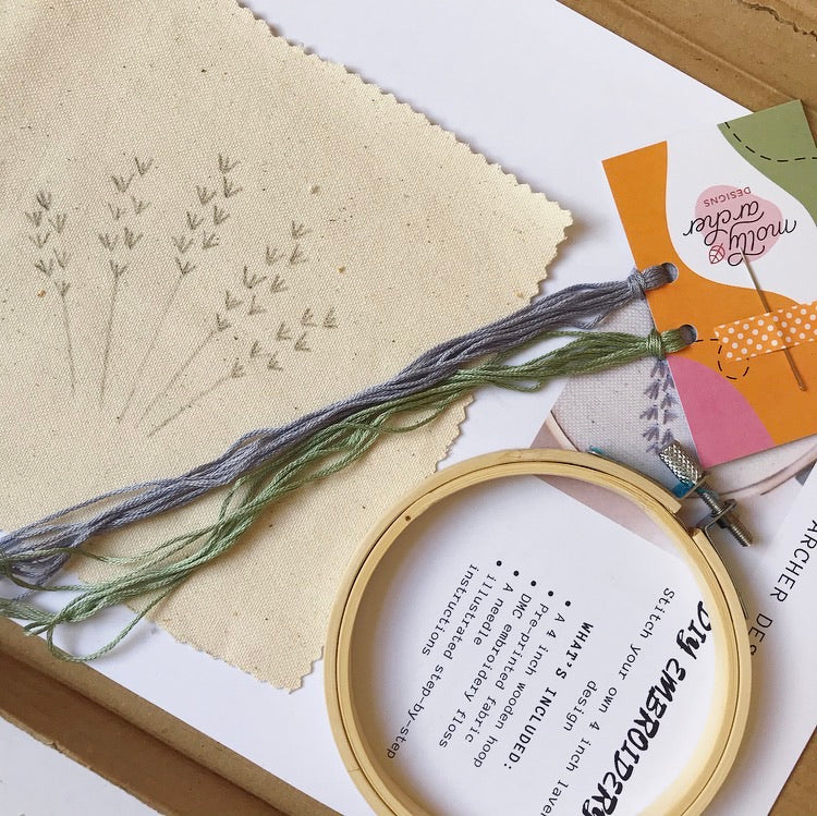 PRE-ORDER Beginner Lavender DIY Embroidery Kit