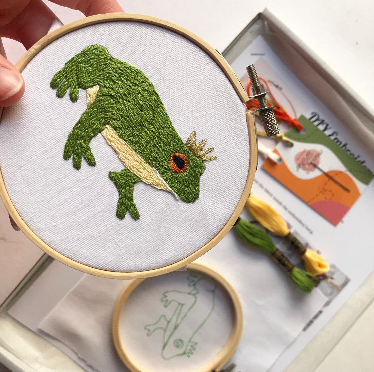 DIY Intermediate Frog Prince Embroidery Kit
