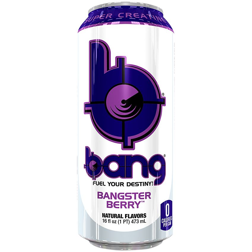 Bang Energy Drink with CoQ10 & Creatine - Bangster Berry (12 Drinks)