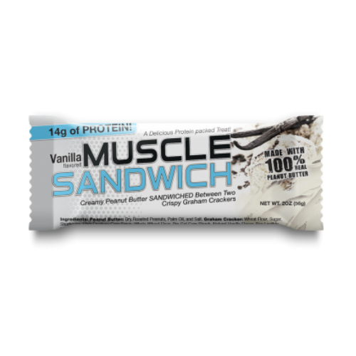 Muscle Sandwich Bars Vanilla - 12 Bars