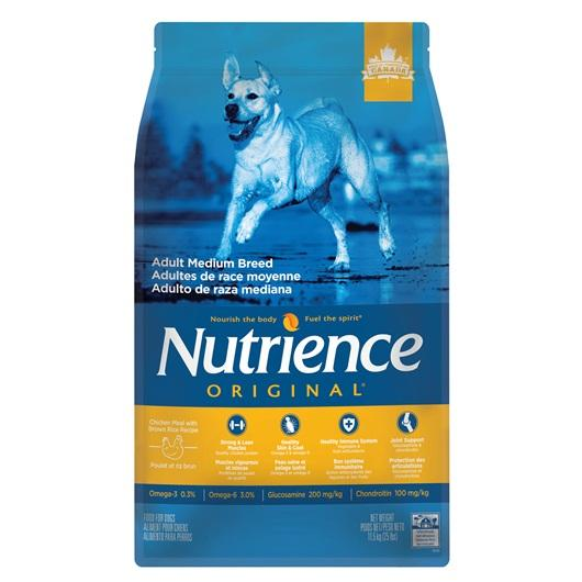 Aliment Nutrience Original, Adultes de race moyenne, Poulet et riz brun