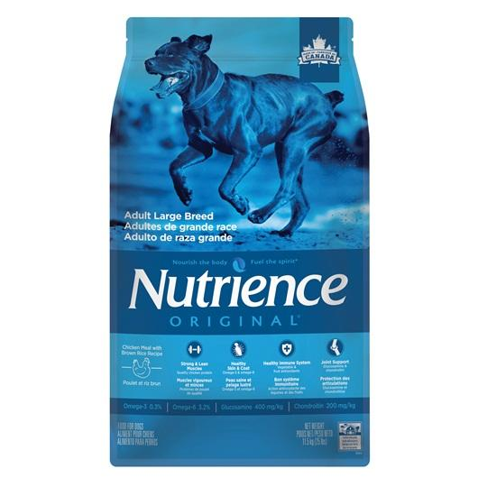 Aliment Nutrience Original, Adultes de grande race, Poulet et riz brun, 11,5 kg (25 lb)