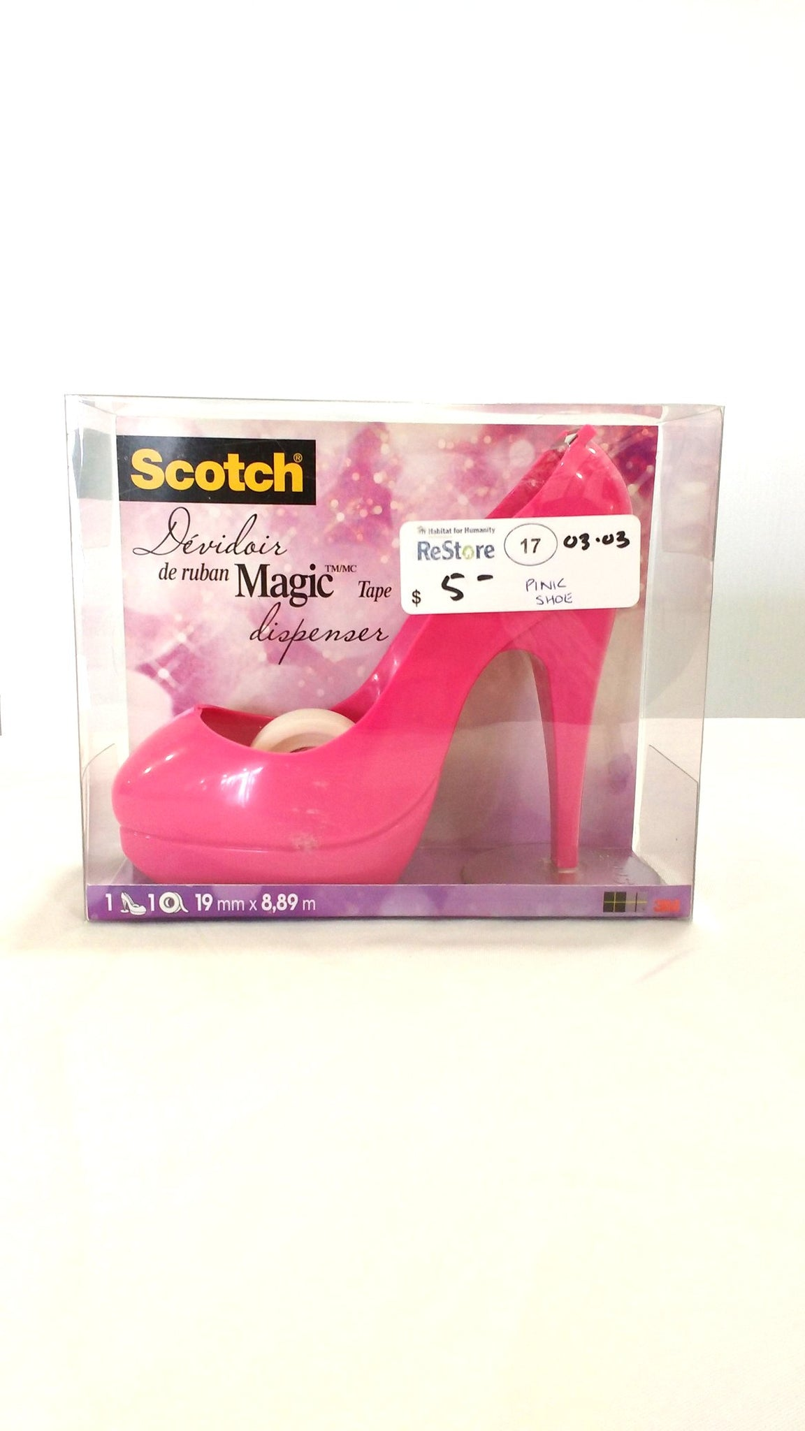 Pink Shoe Tape Dispenser