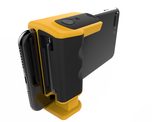 Adonit PhotoGrip, smartphone camera grip, shutter remote - Yellow