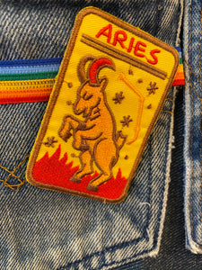 Aries Iron-on Patch