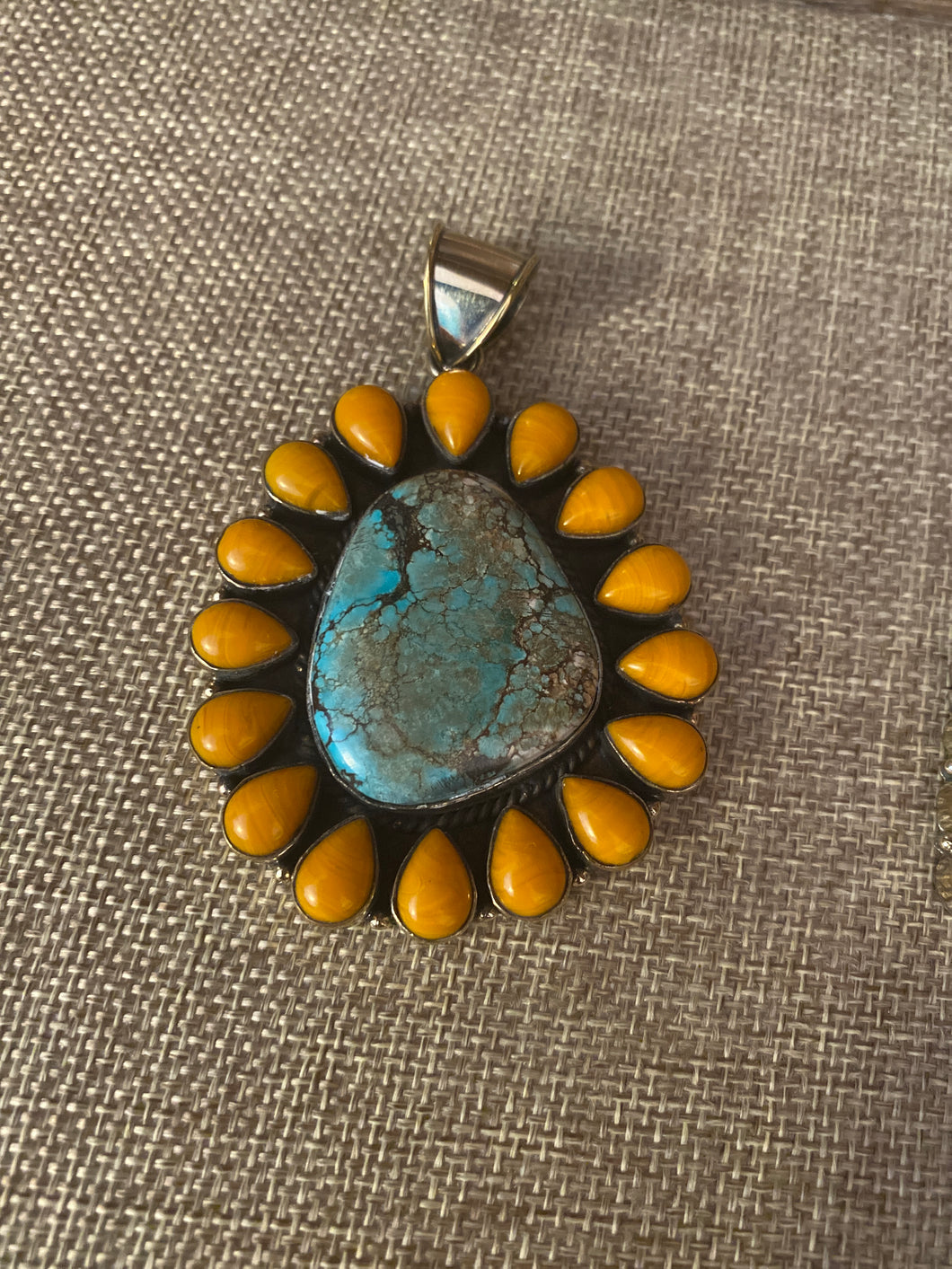 Orange and Turquoise Pendant