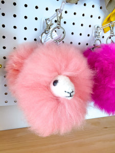 Alpaca Head Keychain Bag Charm