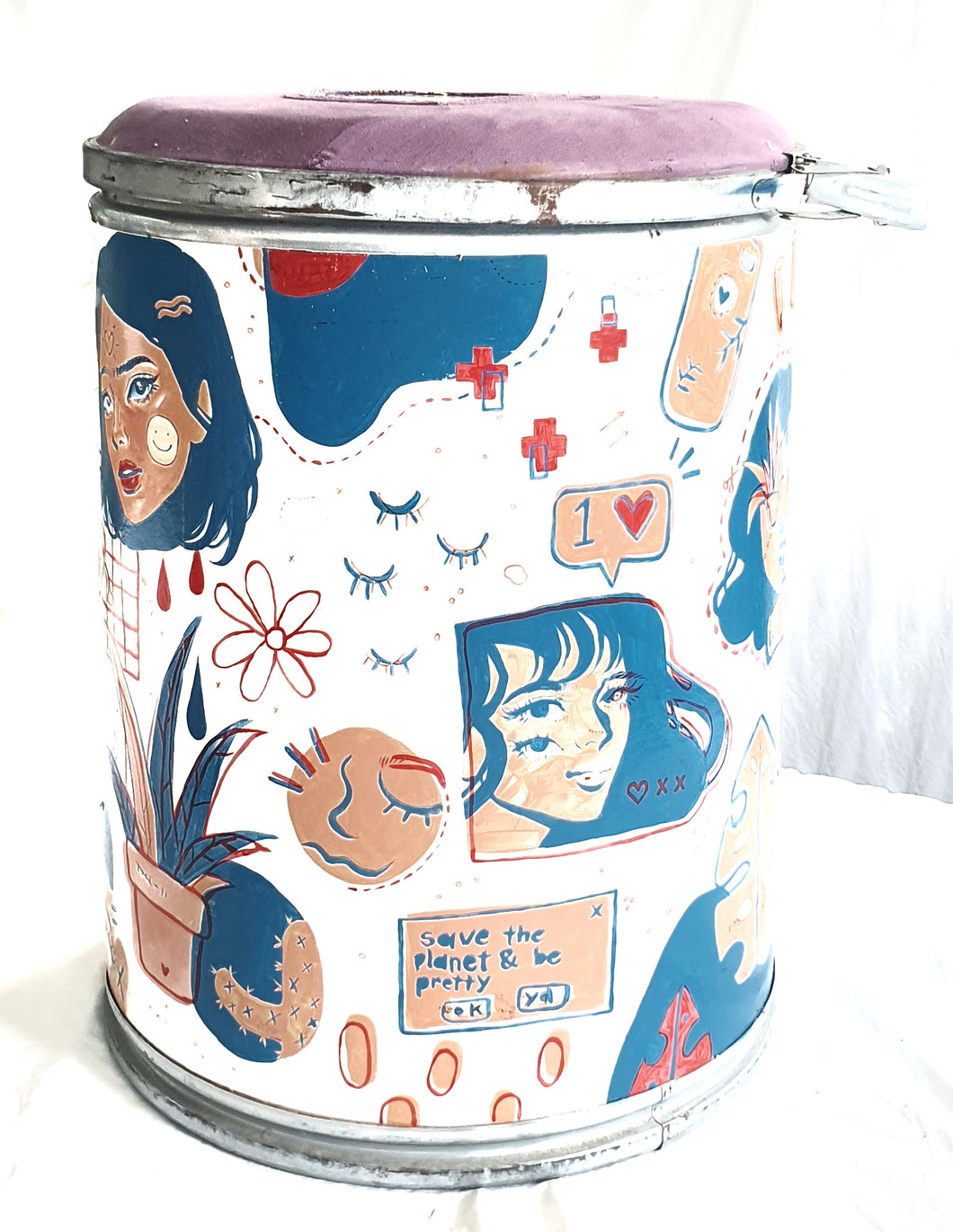 Upcycled Container Shipping Boxes painted by Alyssa Bartoline