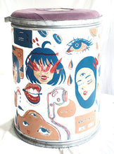Load image into Gallery viewer, Upcycled Container Shipping Boxes painted by Alyssa Bartoline