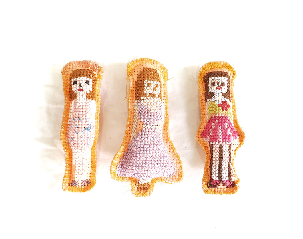 Mini Inday Doll Magnet  set 1