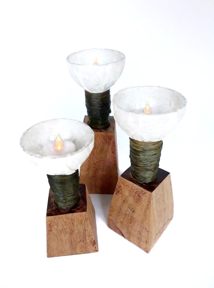 Champagne Glass Votive Candle Holder