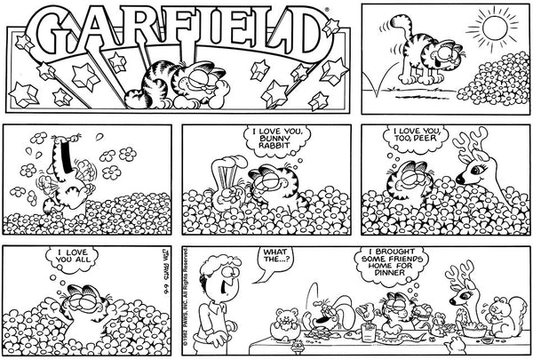 GARFIELD Sunday Comic Strip from June 6th, 1982