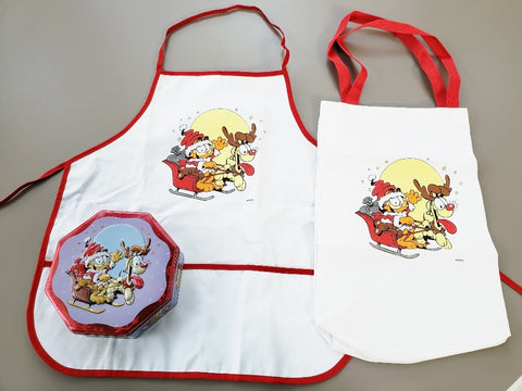 Garfield  Christmas Apron, Tote Bag and Tin