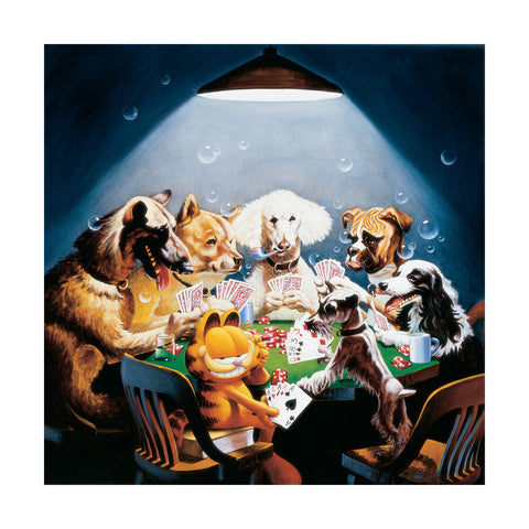 Garfield Playing Poker
