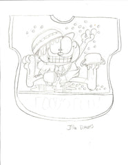 Garfield Baby Bib Sketch