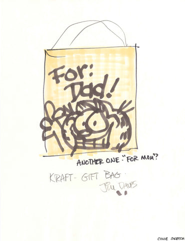 For Dad Garfield Gift Bag