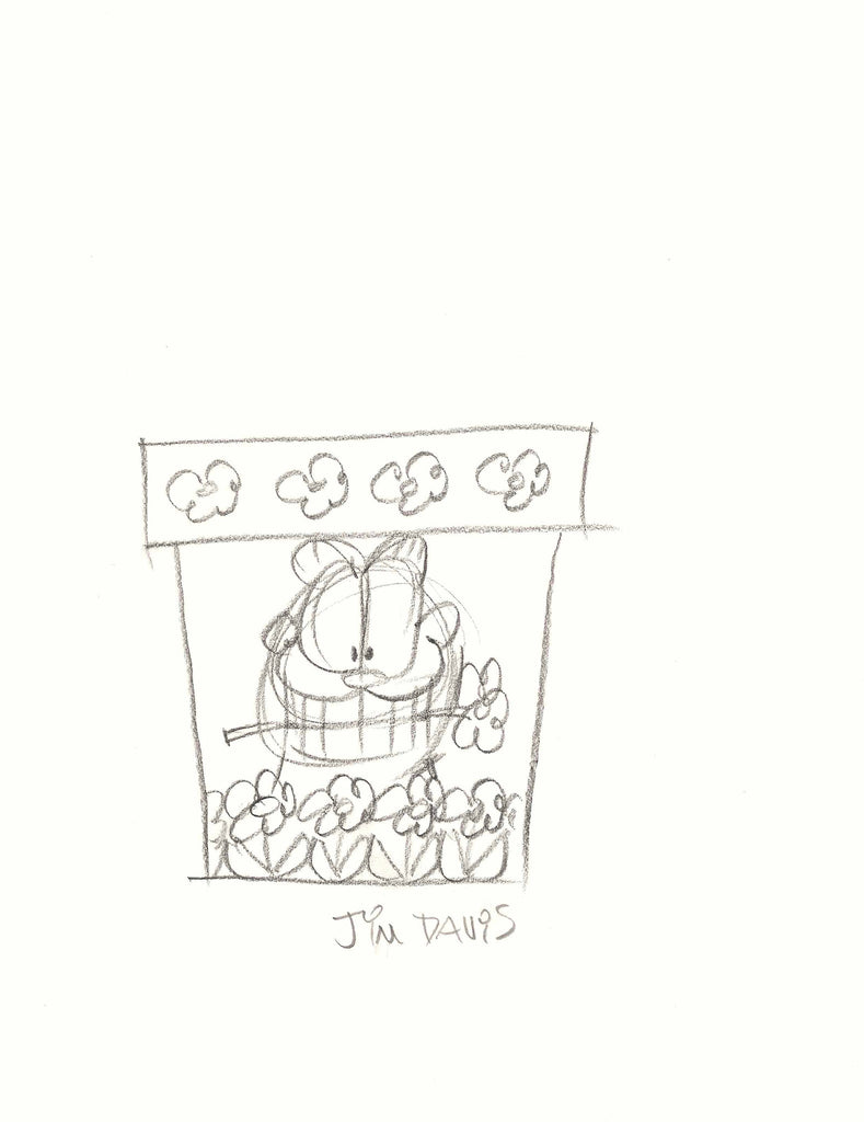 Concept sletch of flower pot by Jim Davis.