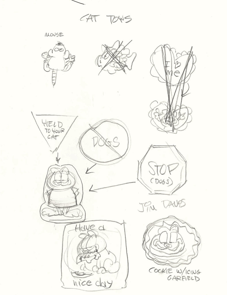 Sketch of Garfield Cat Toys by Jim Davis
