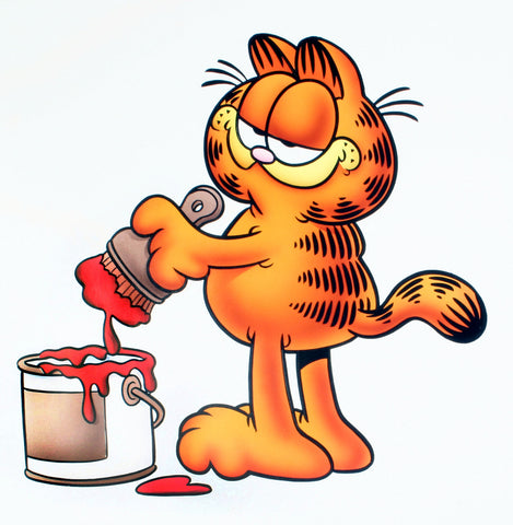 Garfield Airbrushed Artwork - Painting With a Brush