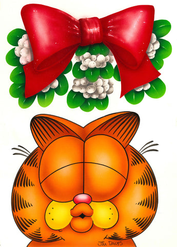 Garfield Airbrushed Artwork - Mistletoe Smooch