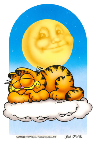 Garfield Airbrushed Artwork - Sleeping on a Cloud
