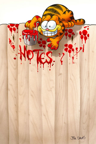 Garfield Airbrushed Artwork - Notes