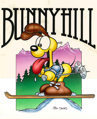 Odie Airbrushed Artwork - Bunny Hill