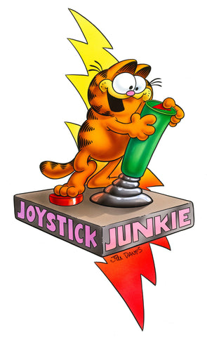 Garfield Airbrushed Artwork - Joystick Junkie