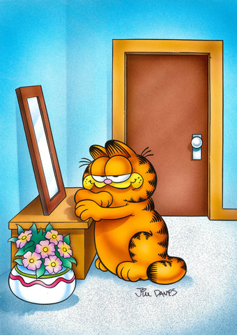 Garfield Airbrushed Artwork - Admiring Myself