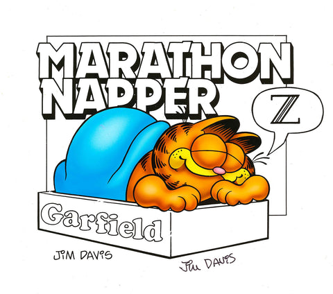 Garfield Airbrushed Artwork - Marathon Napper
