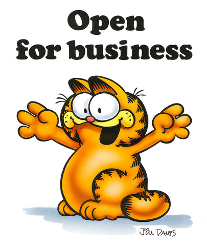 Garfield Airbrushed Artwork - Open for Business
