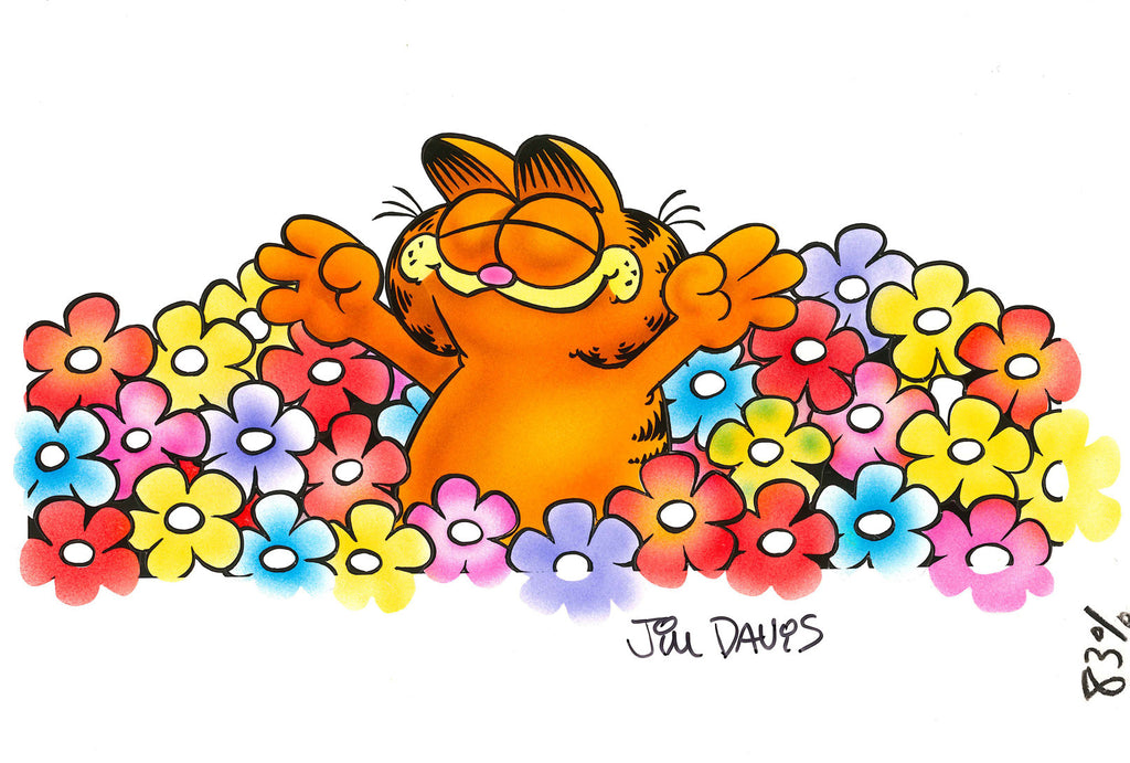 Original Garfield airbrushed artwork from the 80's