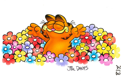 Garfield Airbrushed Artwork - Daisies