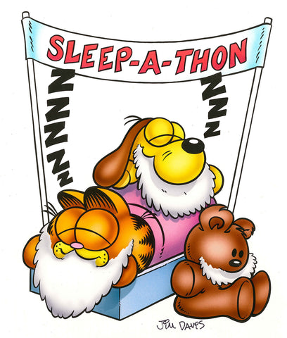 Garfield, Odie & Pooky Airbrushed Artwork - Sleep-A-Thon 2